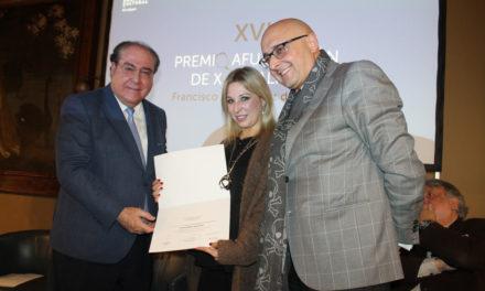 Inma López Silva recibe el XVI Premio Afundación de Xornalismo Fernández del Riego