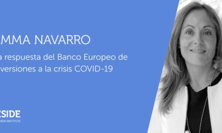 La vicepresidenta del BEI presenta en IESIDE sin muros las medidas financieras ante la crisis provocada por la COVID19