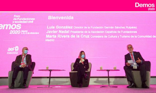 JAVIER NADAL, presidente de la AEF: «Demos se consolida como una cita referente del sector fundacional»