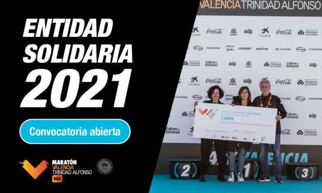 Abierto el plazo para presentarse a entidad solidaria del Maratón Valencia 2021