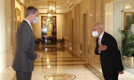 El rey Felipe VI recibe en audiencia a la Junta Directiva de la Asociación Española de Fundaciones