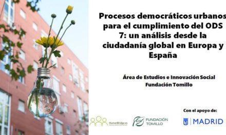 La Fundación Tomillo analiza las prácticas urbanas participativas y sostenibles en su nuevo estudio