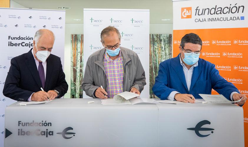 Fundación Ibercaja y Fundación CAI renuevan su apoyo a la AECC