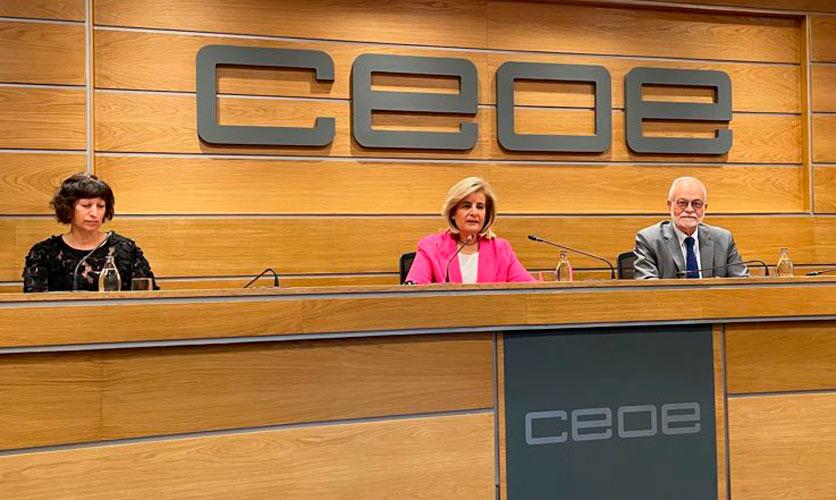 Javier Nadal y Fátima Báñez presentan el Programa de Fundaciones Comunitarias en la Fundación CEOE